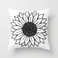 Sunflower Throw Pillow by Brenna Whitton