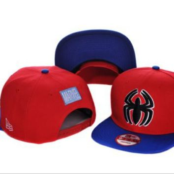 New Era SpiderMan Snapback Red/Blue by Flash's Dopetastic Hats