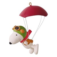 The Peanuts Movie Paratrooper Snoopy Ornament