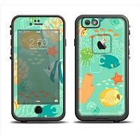 The Colorful Bright Saltwater Fish Apple iPhone 6/6s LifeProof Fre Case Skin Set