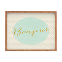 Allyson Johnson French Hello Rectangular Tray
