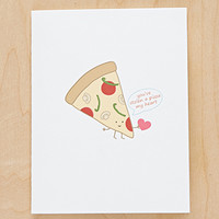 Queenie's Cards Pizza My Heart Card