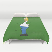 Homer Simpson (The simpsons) Duvet Cover by TxzDesign