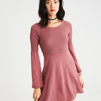 AE Ahh-Mazingly Soft Bell-Sleeve Sweater Dress, Pink