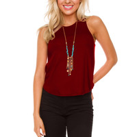 Irreplaceable Top - Burgundy