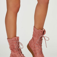 Hailey Suede Creeper Boots