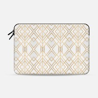 Golden Geo Macbook 12 Sleeve by Elisabeth Fredriksson | Casetify