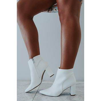 REORDER: Fabulously Fierce Booties: White