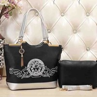 One-nice™ VERSACE Two piece omen Shopping Bag Leather Tote Handbag Shoulder Bag H-MYJSY-BB