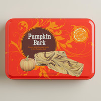 Milk Chocolate Pumpkin Bark Tin - World Market