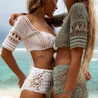 Hot New Arrival Swimsuit Summer Blouse Sexy Handcrafts Beach Bikini [11600822298]