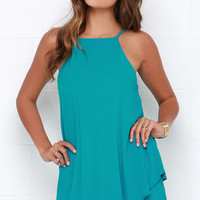 Dee Elle Whimsical Whim Turquoise Dress