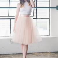 The Wendy - Dusty Blush Tulle Skirt   Space 46