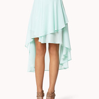 Tiered High-Low Skirt