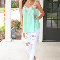 Going Places Tank - Mint