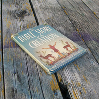 Vintage Book The Bible Story of the Creation by Mary Alice Jones 1946