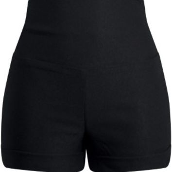 Women's Bow Back High Waisted Shorts