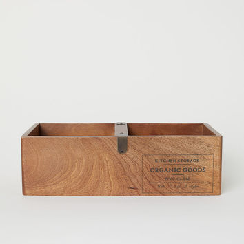 Wooden Storage Box - Beige/mango wood - Home All | H&M US