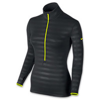 Women's Nike Pro Hyperwarm Embossed Half-Zip Shirt