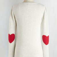 Folk Art Mid-length Long Sleeve We're Young at Heart Sweater