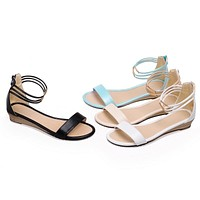 Fashion Sandals Wedges Women Flats Shoes 4296