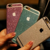 Beauty Hybrid Bling Glitter Soft Gel Shiny Sparkling with Candy Back Plate Cover Case for Apple iPhone 6