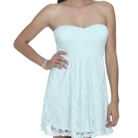 Sweetheart Tube Lace Dress   Shop Dresses at Wet Seal