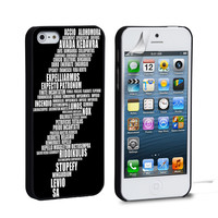 Harry Potter Spell Black Cover iPhone 4 5 6 Samsung Galaxy S3 4 5 6 iPod Touch 4 5 HTC One M7 8 Case