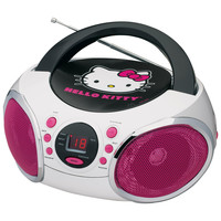 Hello Kitty Portable Stereo CD Boombox with AM-FM Radio Speaker
