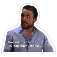 'How Much Cheese is Too Much Cheese? - The Tough Questions' Sticker by TellAVision