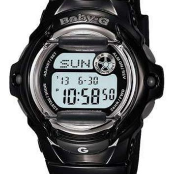 Casio Baby-G Whale - Gloss Black - World Time Chronograph - 200 Meters