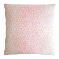 Triangles Velvet Blush Pillows by Kevin O'Brien Studio