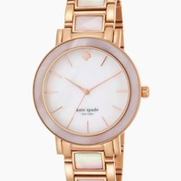"""kate spade new york Women's 1YRU0396 """"Gramercy"""" Rose Gold and Mother-of-Pearl Bracelet Watch"""