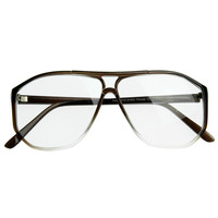 Retro Hexagon Shape Hipster Clear Lens Aviator Glasses 8069