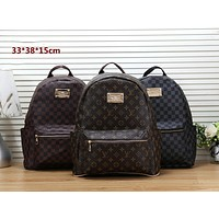 LV tide brand retro men and women models wild fashion large capacity backpack