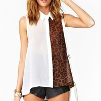 Wild Side Blouse - White