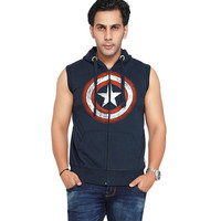 Captain America Shield Sleeveless Hoodie