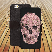 iphone 5 5s case skull Small Chrysanthemum iphone 4/4s iPhone 6 6 Plus iphone 5C Wallet Case,iPhone 5 Case,Cover,Cases colorful pattern L260