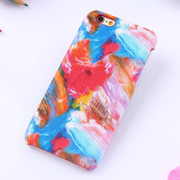 Colour oil painting mobile phone case for iPhone 7 7 plus iphone 6 6s 6 plus 6s plus + Nice gift box 71501