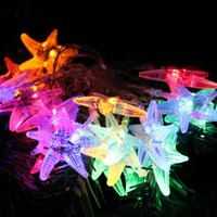 TLT 20 LED Starfish Shaped String Lights (Multi-color), Great for Beach Party LED016