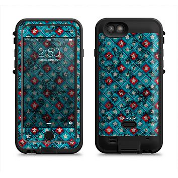 The Worn Dark Blue Checkered Starry Pattern  iPhone 6/6s Plus LifeProof Fre POWER Case Skin Kit