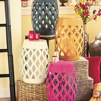 Moroccan Lattice Accent Stools
