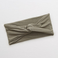 Aerie Twist Headband, Olive Fun