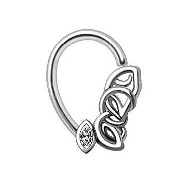 316L Stainless Steel Chained Teardrop Seamless Ring