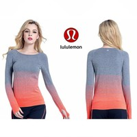 Lululemon Women S Long Sleeves Lulu Lemon Sports Fitness Leisure Running Yoga Breathable Sweatshirt-2