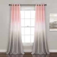 Pink Ombre Room Darkening Window Curtains