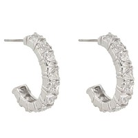 Freya Trillion Cut Hoop Earrings | 4.5ct