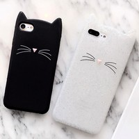 Lewinsky 3D Silicone Soft Cover Case For iphone X 8 6plus 7plus Phone Case cute Cat Case For iphone 6 6s Mobile Phone Bunny Case