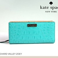 Kate Spade Zoey Orchard Valley Wallet- Aqua from The Wild Orchid