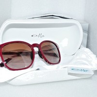 Oakley 002047-08 Ringer Women's Sunglasses Red Mosaic w/ Dark Brown Grad 138